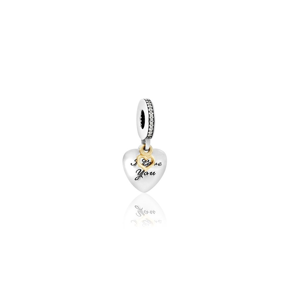 Pandora Love You Forever Charm, Clear CZ 792042CZ