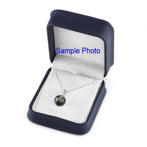 Or 14K diamant et perle de culture de Mer du sud de Tahiti Estelle Pendentif