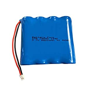 3.7v Lithium Ion Battery Pack – 8800mAh, with JST Pitch 2.0mm Connector 2-Pin Plug Large Capacity Battery, DIY Power Supply