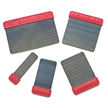"""Steel Blade Spatulas for Venetian Plaster, Smooth Plastering or Stucco - Set of 5. Sizes: 6"""", 4"""", 3"""", 2"""", 1"""""""