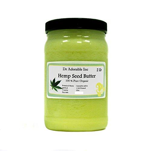 2 LB Hemp Seed Butter Organic 100% Pure Raw