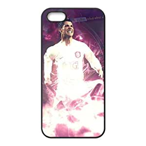 iPhone 5 5s Cell Phone Case Black Cristiano Ronaldo QWY Personalized Custom Phone Case