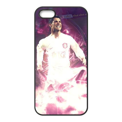 Cristiano Ronaldo 002 2 coque iPhone 4 4S cellulaire cas coque de téléphone cas téléphone cellulaire noir couvercle EEEXLKNBC24354