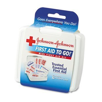 Johnson Mini First Aid - 12 Pack Mini First Aid To Go Kit, 12 Pieces, Plastic Case by JOHNSON & JOHNSON (Catalog Category: Office Maintenance, Janitorial & Lunchroom / Well Being, Safety & Security) by JOHNSON & JOHNSON