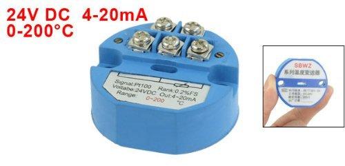 eDealMax PT100 trasmettitore di temperatura del sensore, 0-200C, 4-20 mA uscita