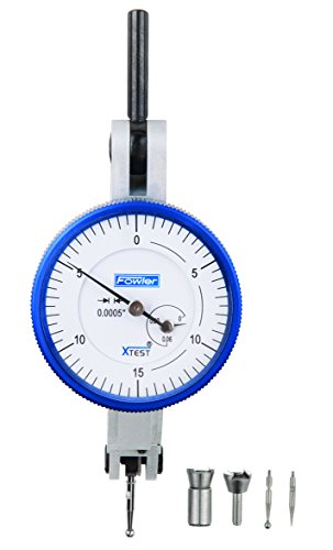 - Fowler Full Warranty 52-562-001-0 Horizontal White Dial X-Test Indicator, 0.0005