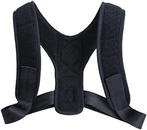 Supvox Körperhaltung Korrektor Rückenstütze für Männer Frauen verstellbar verstellbare Schulter Haarglätter schwarz Größe m