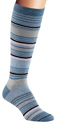 FoxRiver Women's Simply Stripe Crew, Blue, Large (Fox River Knee Socks High)