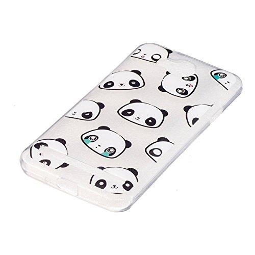 Erdong® Funda de Silicona TPU para Huawei Y3 II / Y3 2 4.5, Carcasa Transparente Soft Clear Case Cover Funda Blanda Flexible Carcasa Delgado Ligero Caja Anti Rasguños Anti Choque con Diseño Creativo  Panda