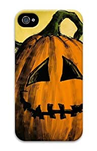 Iphone 4 4s 3D PC Hard Shell Case Halloween Pumpkin by Sallylotus