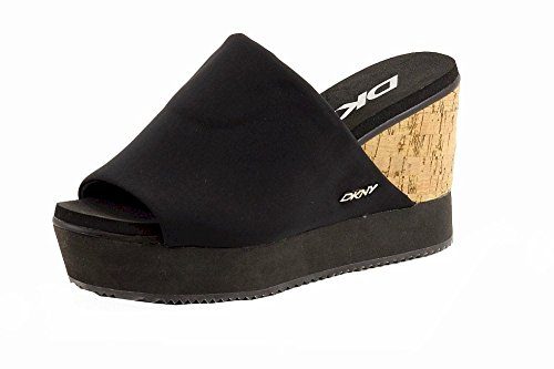 Donna Karan DKNY Women's Iris Black Fashion Wedge Sandals Shoes Sz: 10 Dkny Cork Sandals