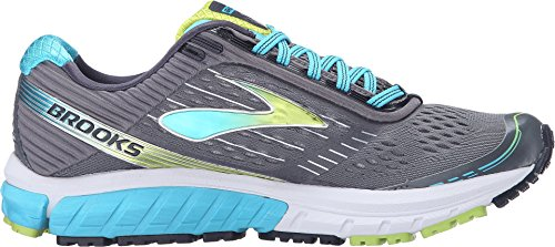 5cc086349a6 Brooks Women s Ghost 9 Silver Blue Atoll Lime Punch Running shoes - 8.5 B