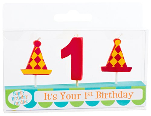 Party Partners Number Candle Set, 1st Birthday by Party Partners