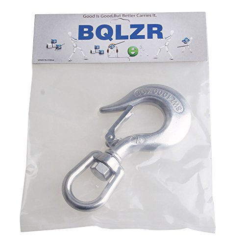 BQLZR Silver American Type 304 Stainless Steel Swivel Eye Type Lifting Hook 1000KG Working Load Limit by BQLZR (Image #6)