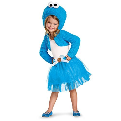 Disguise 76893S Cookie Monster Shrug And Tutu Kit Costume, Small (2T)