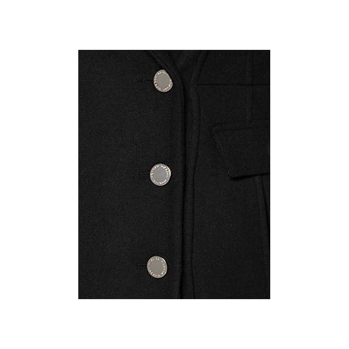 41B8dPmLOZL Cierre: Botón Limpieza en seco solamente Abrigo con botones de metal GENEPI