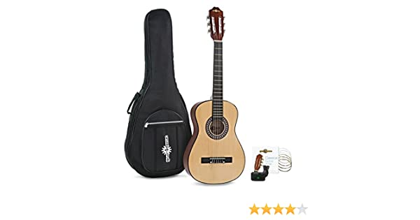 Paquete de Guitarra Espanola Junior de 1/2 de Gear4music Natural ...