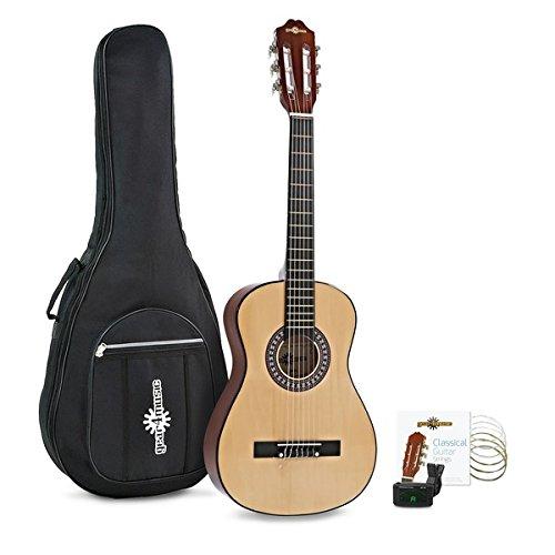 1/2-Junior-Konzertgitarre von Gear4music Natural – Paket