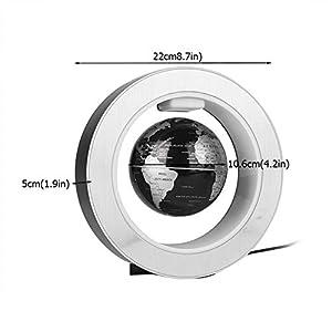 Wifehelper – Globo de levitación magnético, Globo Flotante en Forma de O, Bola de Mapa del Mundo con rotación antigravedad, con levitación magnética con luz LED (EU Plug)