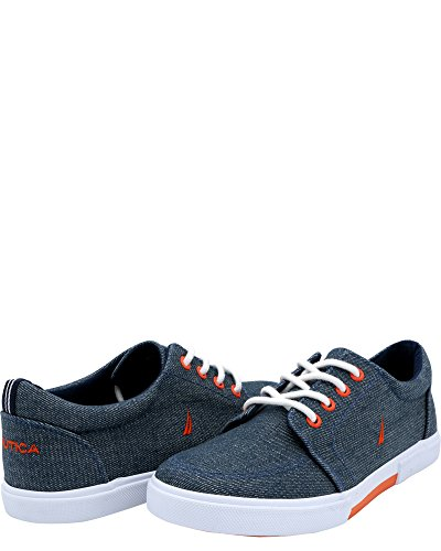 Nautica Boys' Berrian Low-Top Sneakers (Sizes 13-5) - Chambray Blue, 5 Youth by Nautica (Image #3)