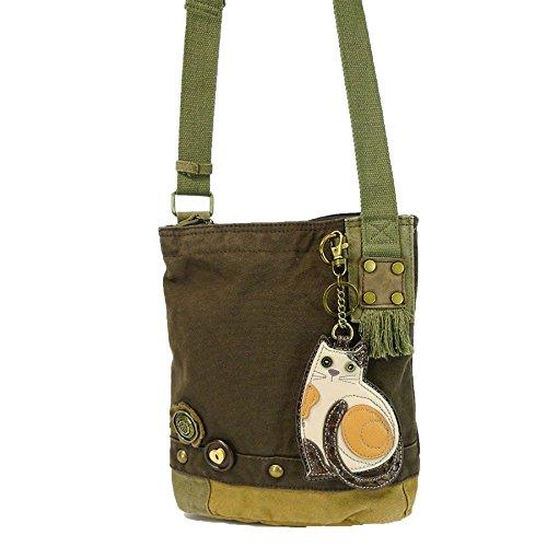 Handbag Cross Patch Body Lazzy Dark Bag Messenger Chala Canvas Women Brown Cat IFBwCnxq