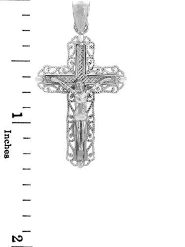 Petits Merveilles D'amour - Argent 925/1000 - Collier Crucifix - Le Ever After Crucifix (vient avec une Chaîne de 45 cm)