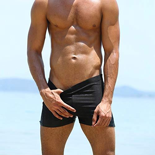 Size Pantalon Respirant Slim Noir Solide Homme De Plus Shorts Malles Swim Plage Ihengh Maillots Wear Short Hommes Trunks Bain SxqwaUYz0I