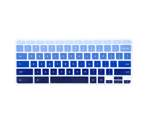 For-ASUS-Chromebook-C302CA-Keyboard-Cover-Keyboard-Protector-Skin-for-ASUS-Chromebook-Flip-C302CA-125-Chromebook-Ultra-Thin-Anti-Dust-Premium-Silicone-Material-Gradual-Blue