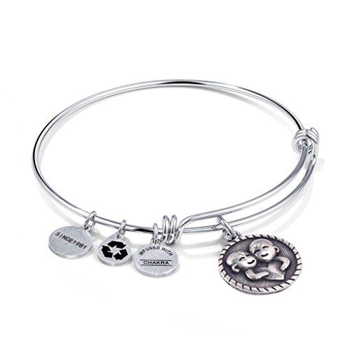 qunlianshangmao Gemini Zodiac Bracelet Jewelry Stainless Steel Adjustable Constellation Gift Bracelets Bangles for Women Girls