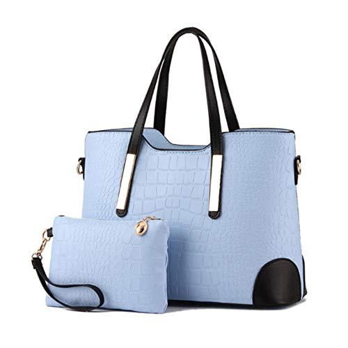 Composites nbsp;sacs Àmain Sky Motif Main Luxe Capacité Blue Grande Femme Sacs Pour Avec De Mzdpp Crocodile En À Femmes A57qwq