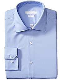 Men's Slim-Fit Wrinkle-Free Solid Twill Dress Shirt