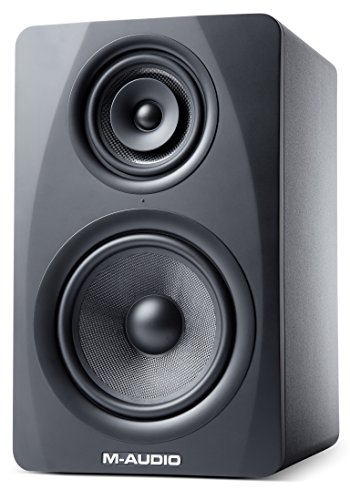 M-Audio M3-8 | 3-Way Active Studio Monitor Speaker with 8-inch Woven Kevlar Woofer (Single/Black)