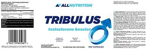 ALLNUTRITION Tribulus Testosteron Booster Trainingsbooster Supplement Bodybuilding 100 Kapseln