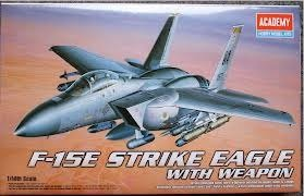 Academy 02117 1:48 F-15e Strike Eagle F15 Plastic Kit