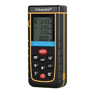 COSANSYS® Laser Distance Meter with Bubble Level Rangefinder Range Finder Tape measure 100m(328ft)