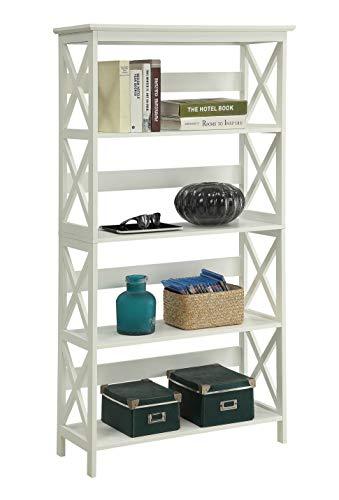 Convenience Concepts Oxford 5-Tier Bookcase, White