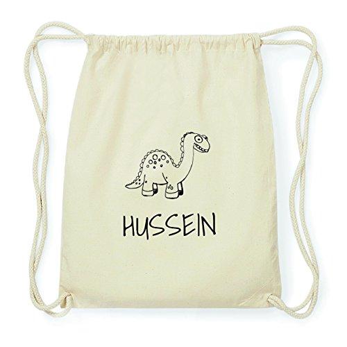 JOllipets HUSSEIN Hipster Turnbeutel Tasche Rucksack aus Baumwolle Design: Dinosaurier Dino n3tni