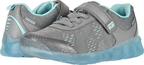 Stride Rite Mesh Sneakers - Stride Rite Girls' M2P Lighted NEO Sneaker, Grey/Blue, 9.5 W US Toddler