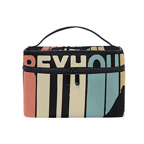 Coverall Vintage Style Greyhound Portable Cosmetic Bags Travel Makeup Organizer Multifunction Case Toiletry Bags for Women Girls