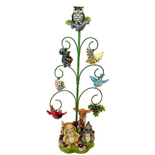 Enesco Jim Shore Heartwood Creek Spring Tree with Ornaments Figurine, 7 Piece