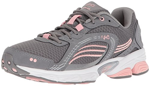 Ryka Women's Ultimate Running Shoe, Frost Grey/English Rose/Chrome Silver, 9 M US