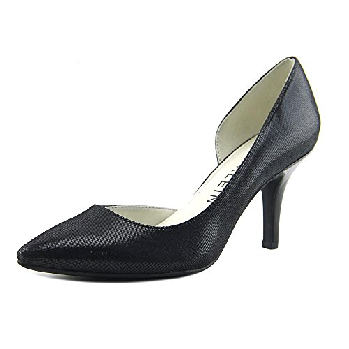 Anne Klein Womens Yolden Fabric Pointed Toe D-Orsay Pumps, Black Fb, Size 8.0