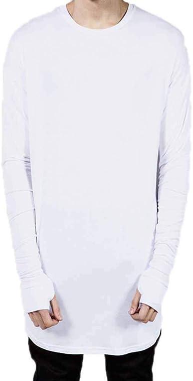 Camiseta de Manga Larga para Hombre, Moda Hip Hop Camisas ...