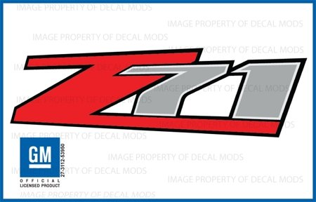 - Chevy Silverado Z71 decals stickers - F (2007-2013) bed side 1500 2500 HD (set of 2)