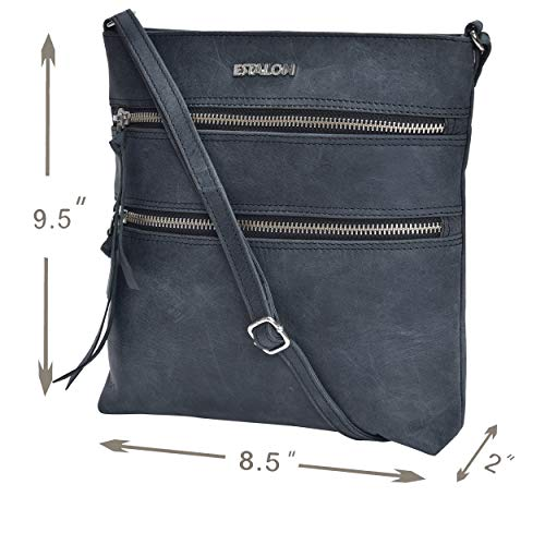 Leather Crossbody Purse for Women- Premium Crossover Cross Body Bag Over the Shoulder Luxury Womens Purses and Handbags