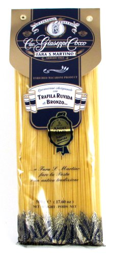 Giuseppe Cocco (4 pack) Angel Hair Artisan Pasta hand-made slow dried in 500g bags from Italy (Pasta Dried)