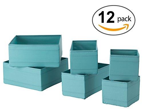 Ikea Drawer Storage Organizer Box Bin Tote Light Blue (12 Boxes) by IKEA