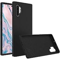 RhinoShield Case für Samsung Galaxy Note 10+ [SolidSuit] |Robuste Dünne Schockabsorbierende Schutzhülle 3.5 Meter Fallschutz| Carbon Fiber Schwarz