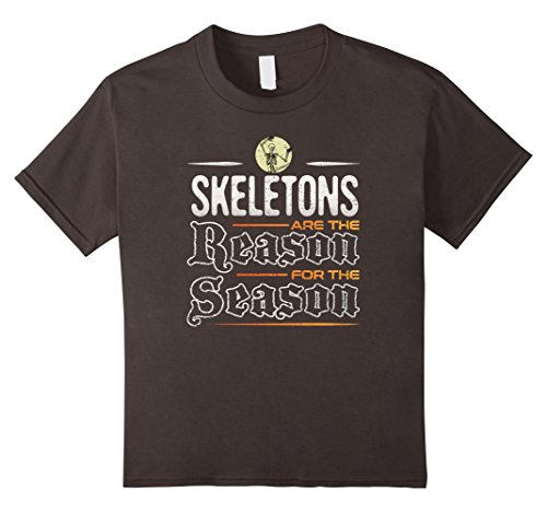Kids Skeletons are the Reason for the Season T-Shirt 10 (Doctor Who Themed Halloween Costumes)