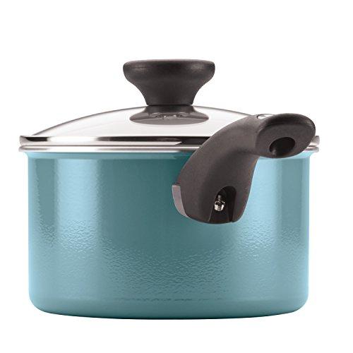 Farberware Ceramic Nonstick Cookware Pots and Pans Set, 12 Piece, Aqua